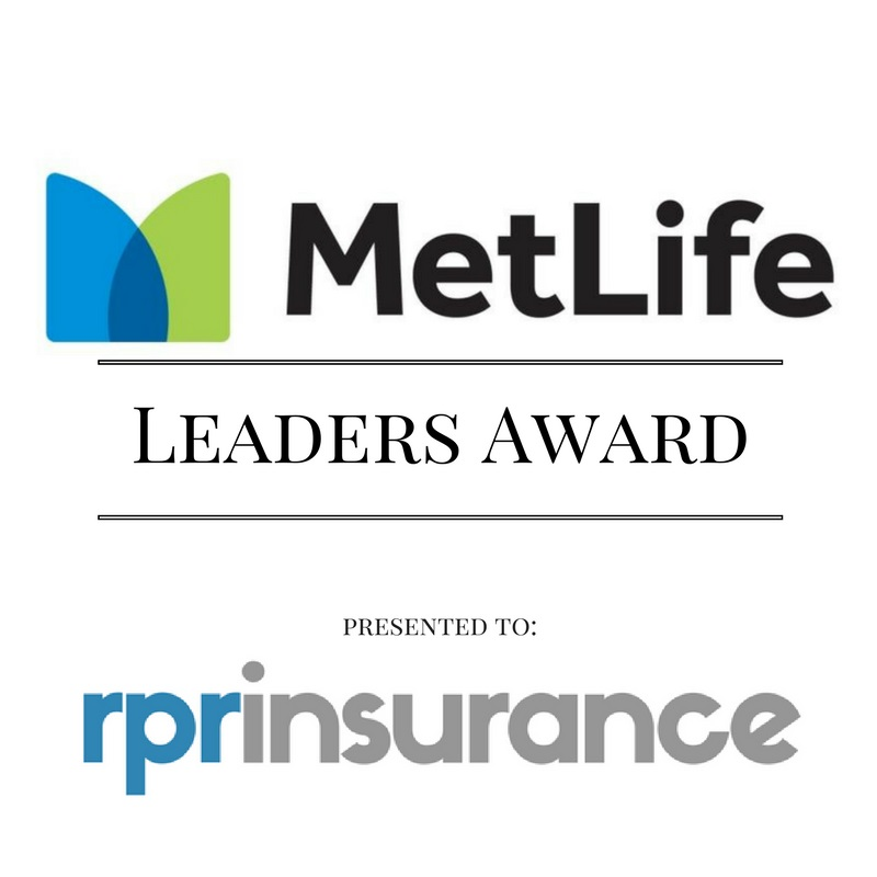 MetLife Leaders Award Presented to RPR Insurance